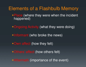 Flashbulb Memory In Psychology