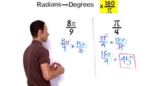 Lesson on how to Convert angle to radians